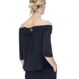 Rebecca Taylor 100% Silk Off The Shoulder Blouse